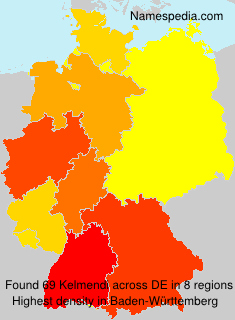 Familiennamen Kelmendi - Germany
