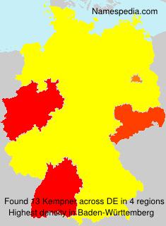 Surname Kempner in Germany