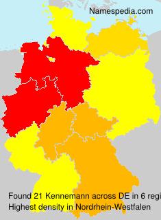 Surname Kennemann in Germany