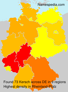Surname Kersch in Germany