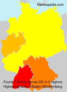 Familiennamen Kertes - Germany