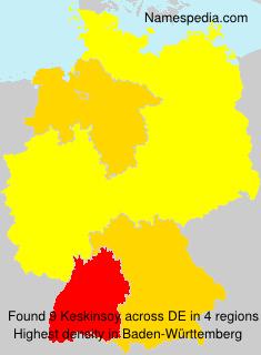 Surname Keskinsoy in Germany