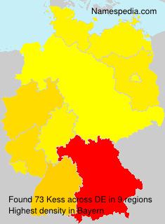 Surname Kess in Germany