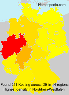 Surname Kesting in Germany