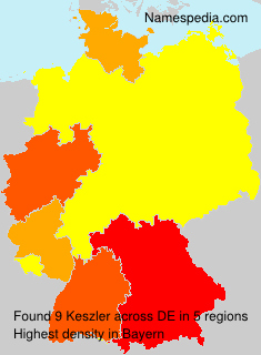 Familiennamen Keszler - Germany