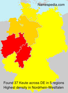 Surname Keute in Germany