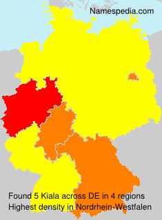 Familiennamen Kiala - Germany