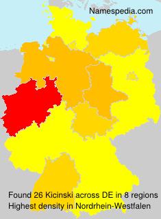 Surname Kicinski in Germany