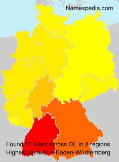 Surname Kiem in Germany