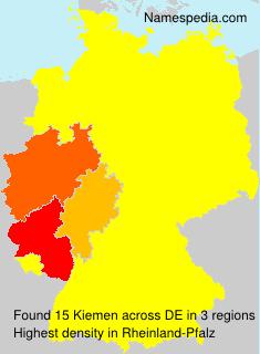 Surname Kiemen in Germany