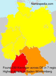 Surname Kieninger in Germany