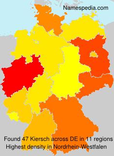 Familiennamen Kiersch - Germany