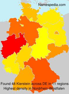 Familiennamen Kierstein - Germany