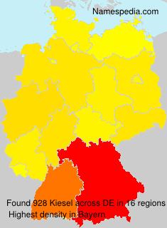 Surname Kiesel in Germany