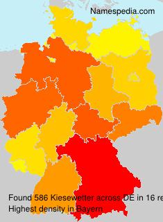Familiennamen Kiesewetter - Germany