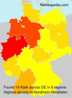 Familiennamen Kijek - Germany