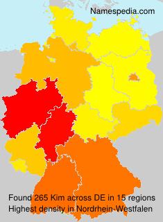Familiennamen Kim - Germany