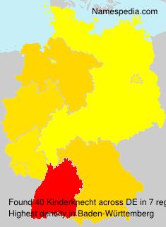 Surname Kinderknecht in Germany