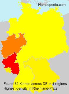 Surname Kinnen in Germany