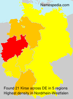 Surname Kirse in Germany