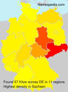 Surname Kitze in Germany