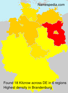 Surname Kitzrow in Germany