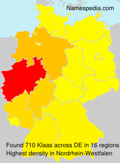 Surname Klaas in Germany