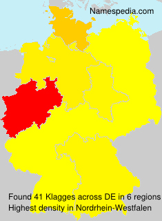 Surname Klagges in Germany