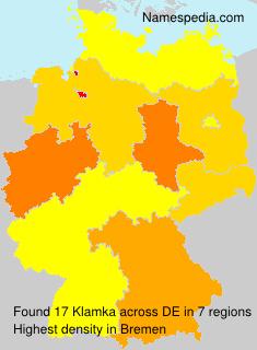 Familiennamen Klamka - Germany