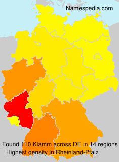 Familiennamen Klamm - Germany
