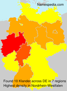 Surname Klander in Germany