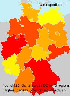 Familiennamen Klante - Germany