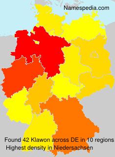 Surname Klawon in Germany