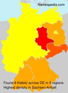 Surname Klebitz in Germany