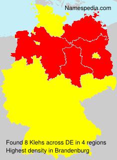 Familiennamen Klehs - Germany