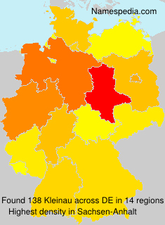 Familiennamen Kleinau - Germany