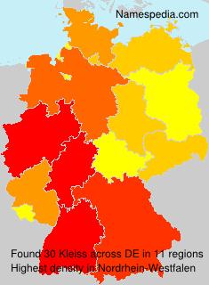 Familiennamen Kleiss - Germany