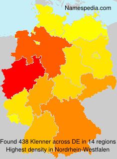 Familiennamen Klenner - Germany
