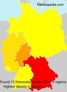 Surname Klenovsky in Germany