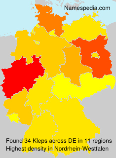 Surname Kleps in Germany