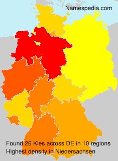 Familiennamen Kles - Germany