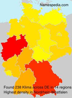 Familiennamen Klima - Germany