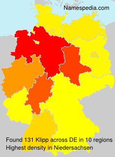 Surname Klipp in Germany
