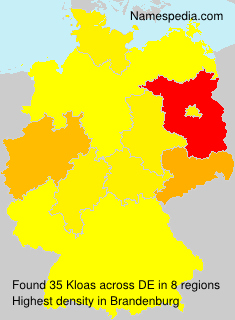 Surname Kloas in Germany