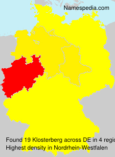 Surname Klosterberg in Germany
