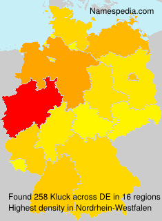 Surname Kluck in Germany