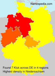 Familiennamen Kluk - Germany