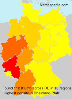 Surname Klumb in Germany