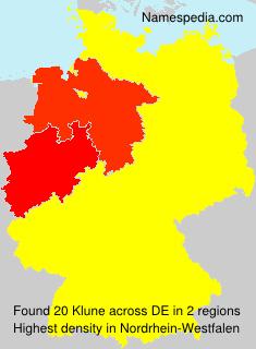 Surname Klune in Germany