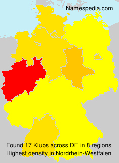 Surname Klups in Germany
